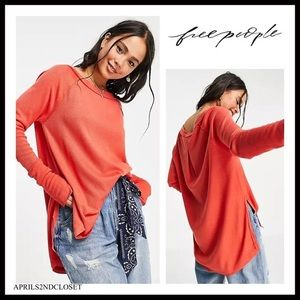 FREE PEOPLE BOHO FLOWY TUNIC TOP PULLOVER TEE A3C